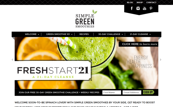 Simple Green Smoothies- WooCommerce Showcase
