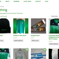 Hendon Supporters - Category - Built With WooCommerce