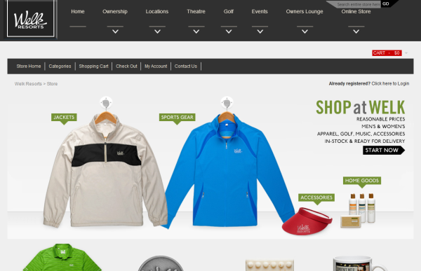 Welk Resorts - WooCommerce Showcase