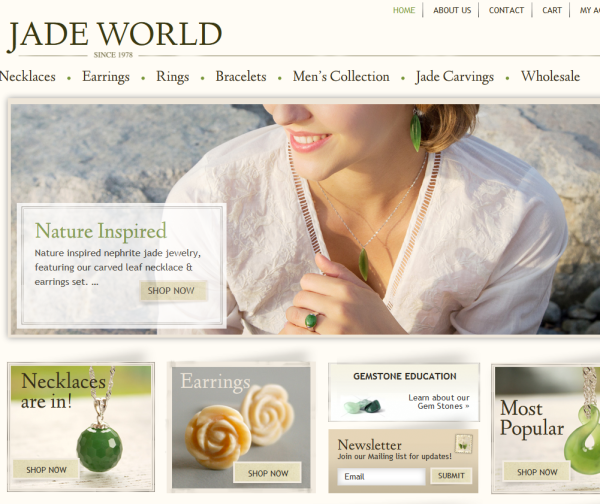 Jade World -  WooCommerce Showcase